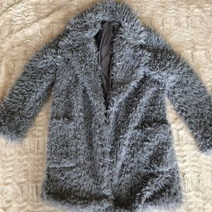 Windsor faux fur gray jacket